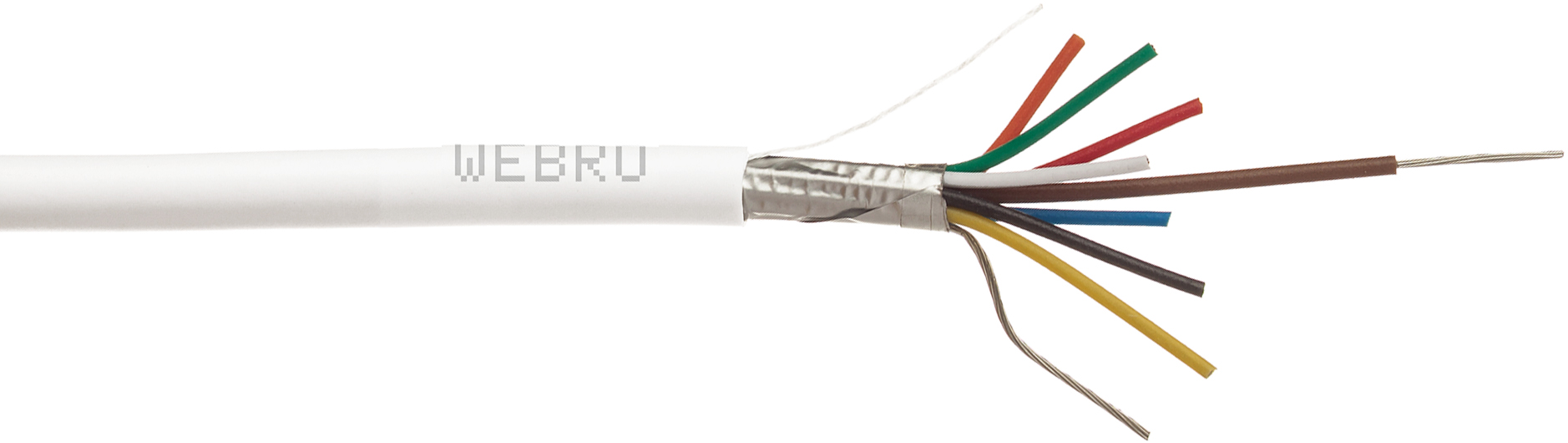 Webro Screened Alarm Cable, screened alarm cable, 8 core screened alarm cable