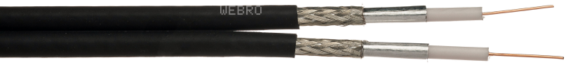 wf65 twin cable, bskyb cable sky+ cable. wf65 twinsat, wf65 shotgun, wf65 shotgun coax, shotgun coax, satellite cable, alumiunium twin coax, twin coax alu,